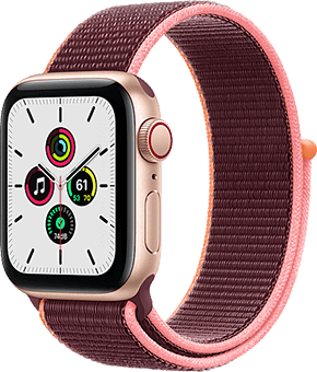 apple watch series 6 se aluminium sport loop gold vorne