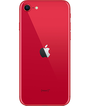apple iphone se 2 gen rot  hinten 1